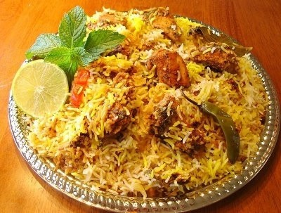 Speaking of food, there are 10 out of 10 chances you will be eating biryani: