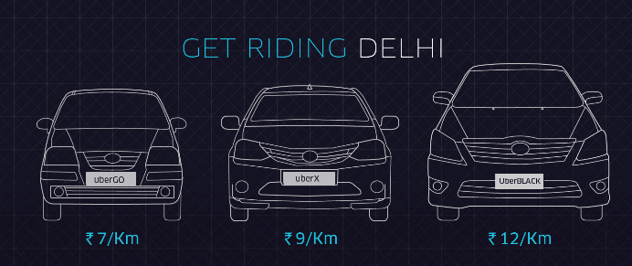 Uber Delhi Fare Chart - Rate Price