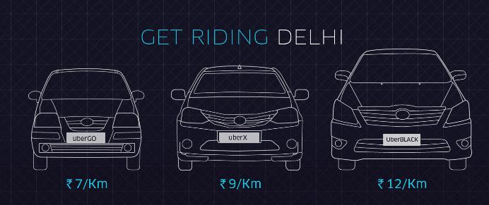 Uber Delhi Fare Chart - Rate Price