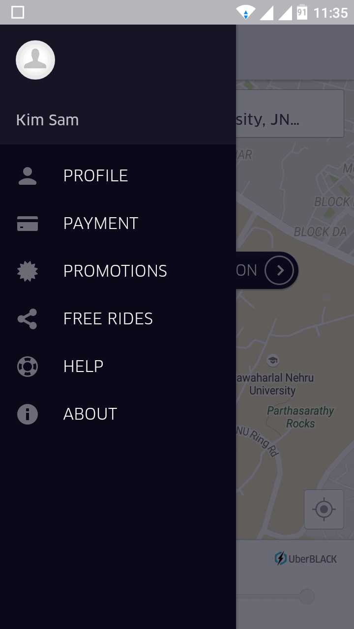 Uber Delhi Review, rates, review, experience4