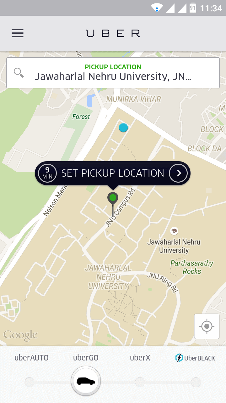 Uber Delhi Review, rates, review, experience5