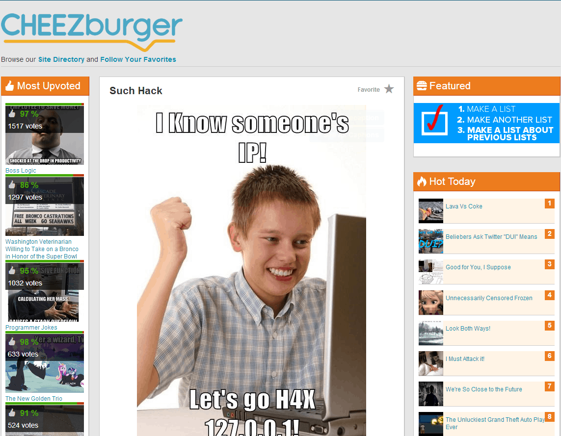 CHEEZburger website