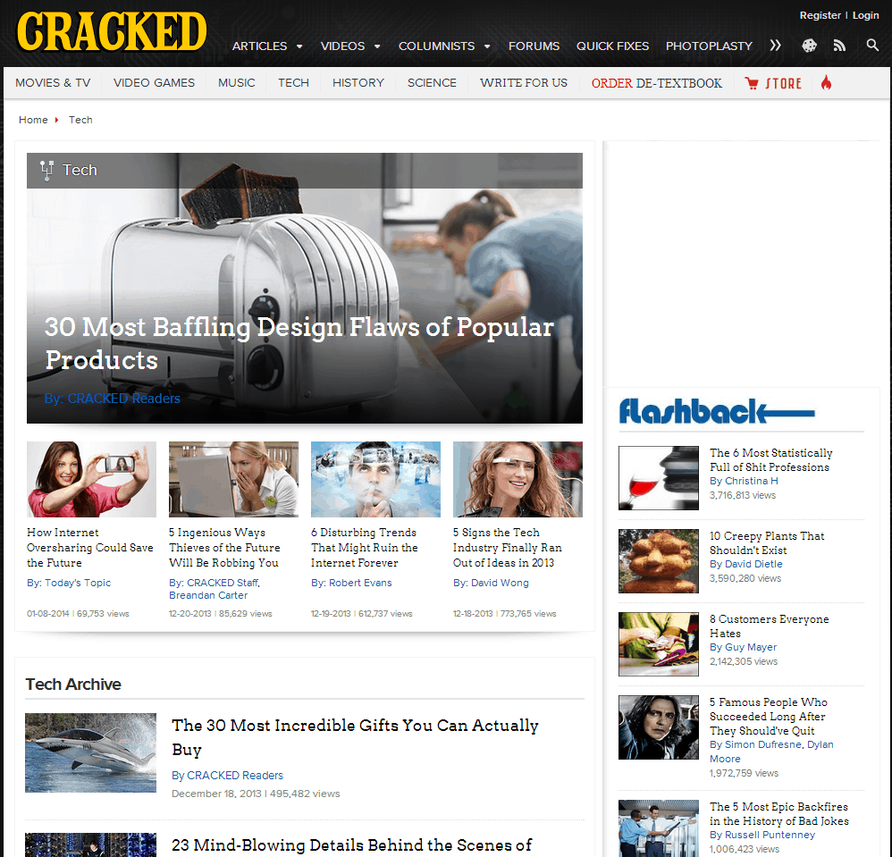 Cracked.com Website