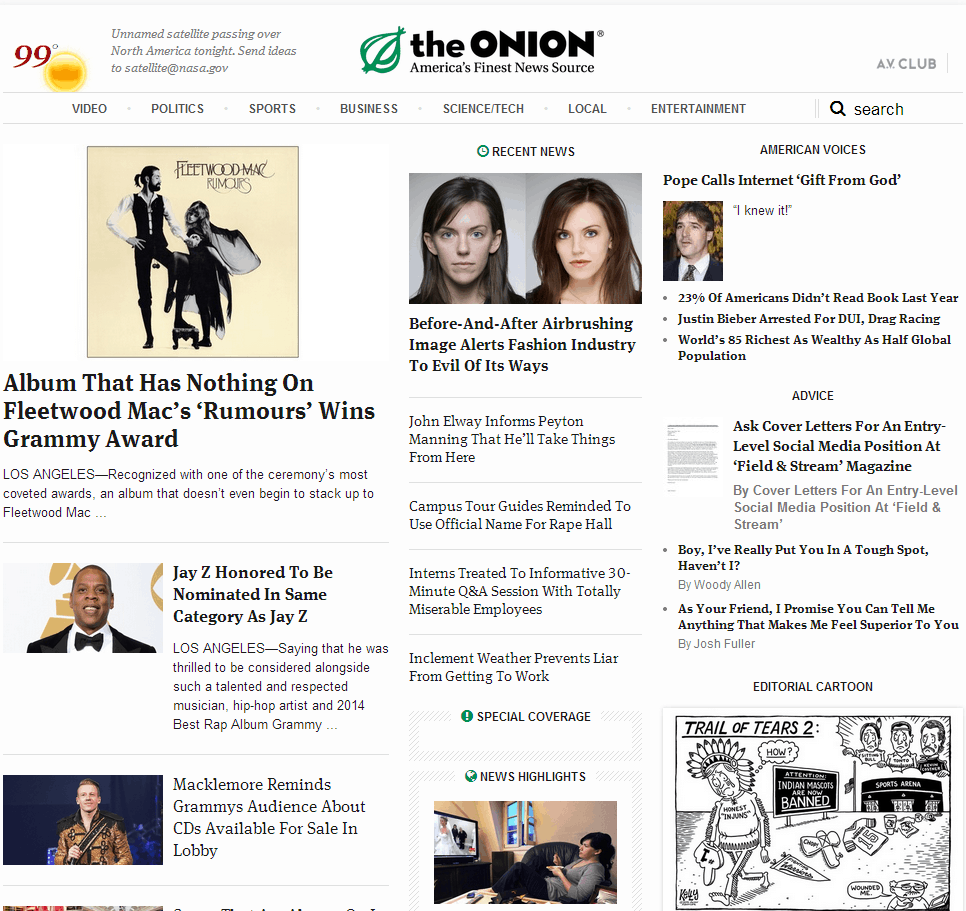 theONION Website