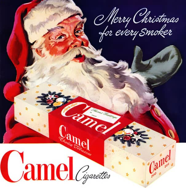 vintage-ads-santa smoking