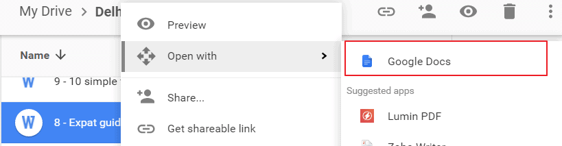 Google Drive Open in Good Docs for Pasting to WordPress from Word or Excel